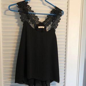 Tops - Black lace tank